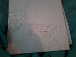 Zidhoggon vs Rayquaza by blackkyurem2