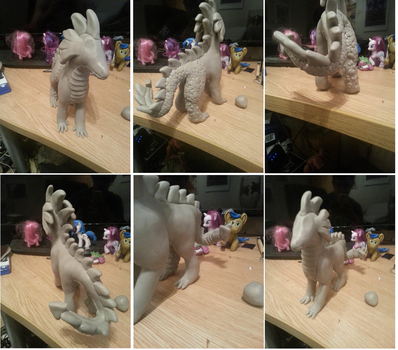 Spike sculpture WiP by McMesser