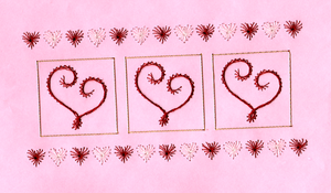 Valentine Embroidered Paper by pinkythepink