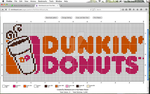 Dunkin Donuts crochet graph! by Penguinnpita