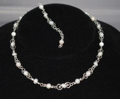 Pearl Swirl Choker by Adornments