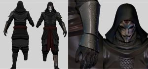 Legend of Korra Amon custom costume for skyrim by Zerofrust
