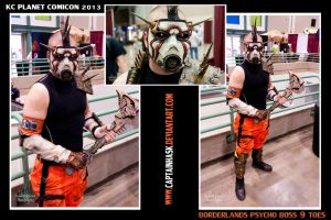 Borderlands Boss 9 Toes at KC Planet Comicon 2013 by SKSProps