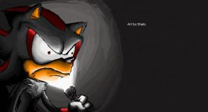 Shadow The Scary Hedgehog by cumeoart