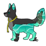 Waterdog commission for Shangry-Ia by WatercolorsInTheRain