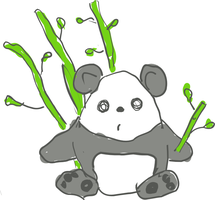 Scribbly Panda Bear by pookstar