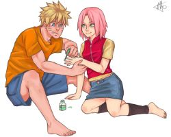 NaruSaku . Sweet n' Simple by starchiishio