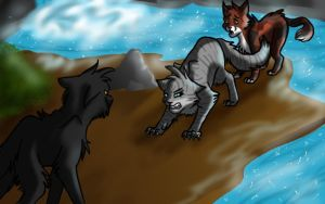 Fight at the Moonpool by GingerFlight