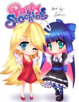 Panty x Stocking Chibi by CamiIIe