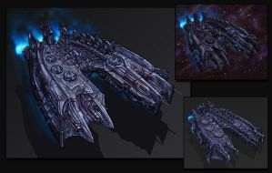 Concept-art (remake) of spaceship by andr3d