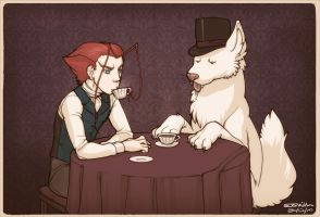 Tophat and Tea by zii