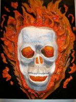 .Ghost Rider Flaming Skull. by CRCstinger