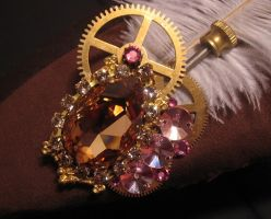 Steampunk Hat Brooch - REWORK by Space-Invader