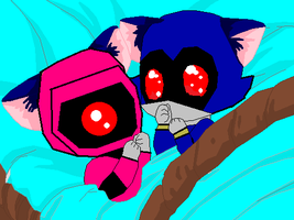 Kitty Baby StormShock And Kitty Baby Metalsonic by bumblebeegirl1234
