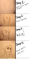Drawing tutorial- For real this time by KolbyKakes
