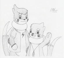 Wayne and Roie by BuizelCream