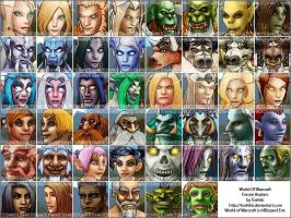 World of Warcraft Forum Icons by Toshikii