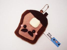 French Toast Plush Keychain by quacked