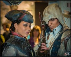 AC III - Connor and Aveline at F.A.C.T.S. 2012-1 by RBF-productions-NL
