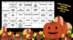 Halloween Movie Marathon Calendar by xXDeadWhiteRabbitXx