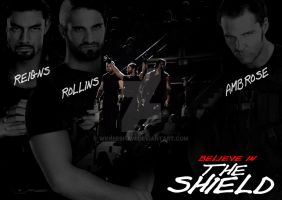 The Shield poster - WWE by WKneeshaw