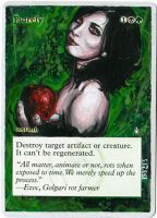 Magic Card Alteration: Putrefy 10-2 by Ondal-the-Fool