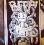 'BEEP' Robot Drawing by alicearmstrong