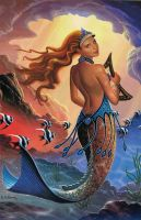 The Sea Queen's Harp by AlanGutierrezArt