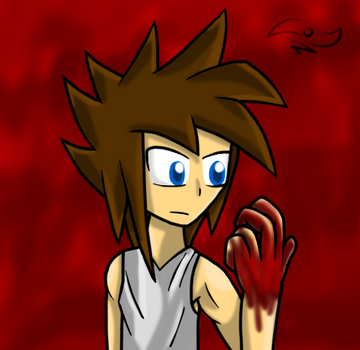 FAC StickBlue, Bloody hand by RemasterModule