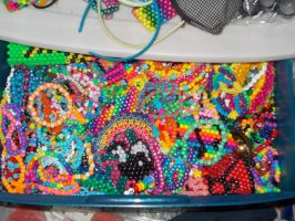 my kandi drawer by DINOCATCREATIONS