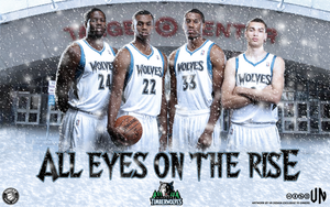 Minnesota Timberwolves All Eyes On The Rise by vndesign