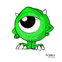 Mini Mike Wazowski by AJSabino