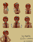 [SNK OC] Ivy Kapella Expression Sheet Fullview pls by Caustic-Creations