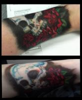 Skull and roses by Vexarna