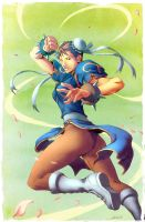 Alvin Lee Chun Li colors by dcjosh