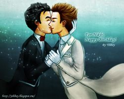 Klaine- Happy Birthday to Nikki! by Yihbey