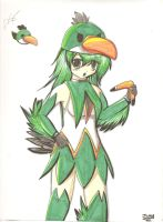 Angry Birds green bird girl by Neon-Juma