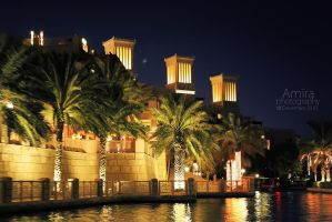 Madinat Jumeirah at night Dubai dec 2010 by amirajuli