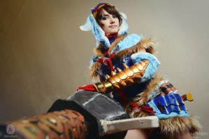 Aoashira/Arzuros: Monster Hunter - cosplay by Narga-Lifestream