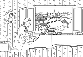Finished Line Work, Mozart by tree27