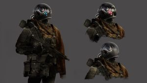 Soldier helmets. Made for the game mankind Reborn by OlegDaniel