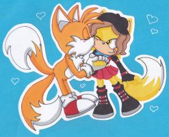 Tails and Tina by AzumiAngel