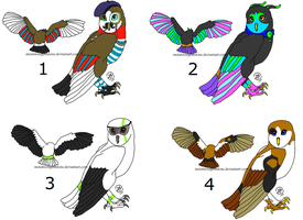 Owl Adopts- Set 02- ALL SOLD by MWGadopts