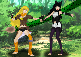 Yang and Blake Encounter Cell by SoleSwallower