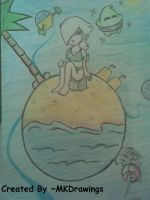 Rosalina on the Beach by MKDrawings