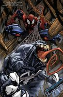 SPIDERMAN VS VENOM! by Sandoval-Art