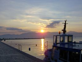 Nafplio Port Sunset by Sc1r0n