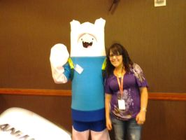 Finn the Human and Fangirl by xcv2013