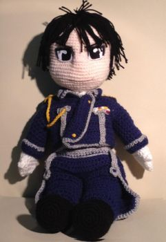 Roy Mustang Crochet toddler doll by Phylpo