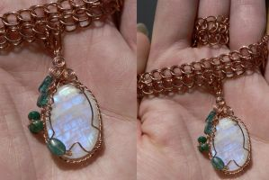 Greenwitch Pendant by magpie-poet